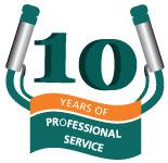 Dairyflow 10th Anniversary logo